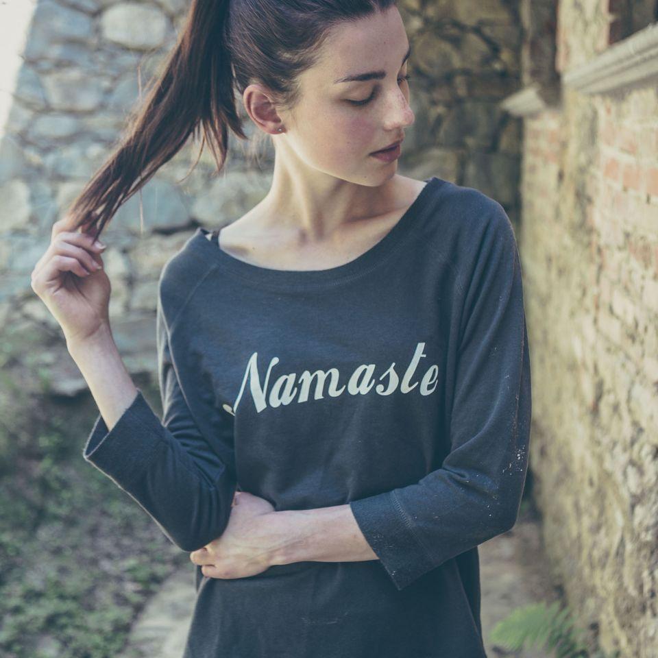 MAUD Namaste Wide Neck Sweatshirt