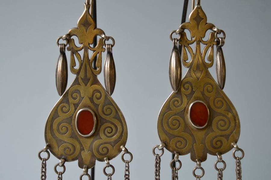 Earrings Turkmenistan, Central Asia