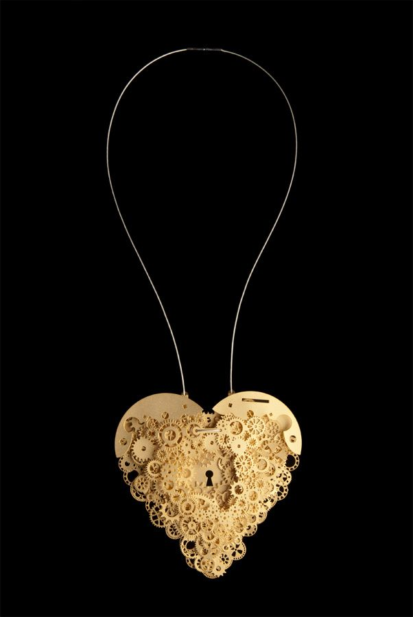 Clockwork Love Key Gold Large