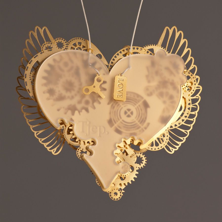 Clockwork Love Wings Gold Large