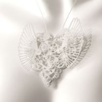 Clockwork Love Wings White Large
