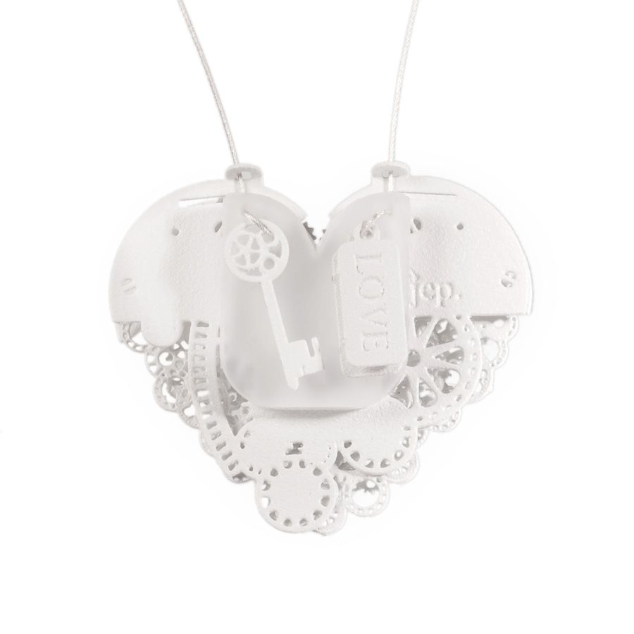 Clockwork Love Key White Small