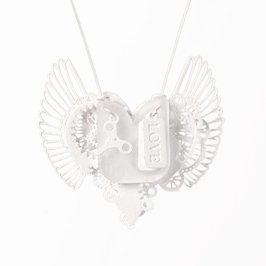 Clockwork Love Wings White Small