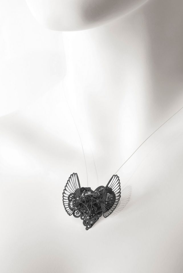 Clockwork Love Wings Black Small