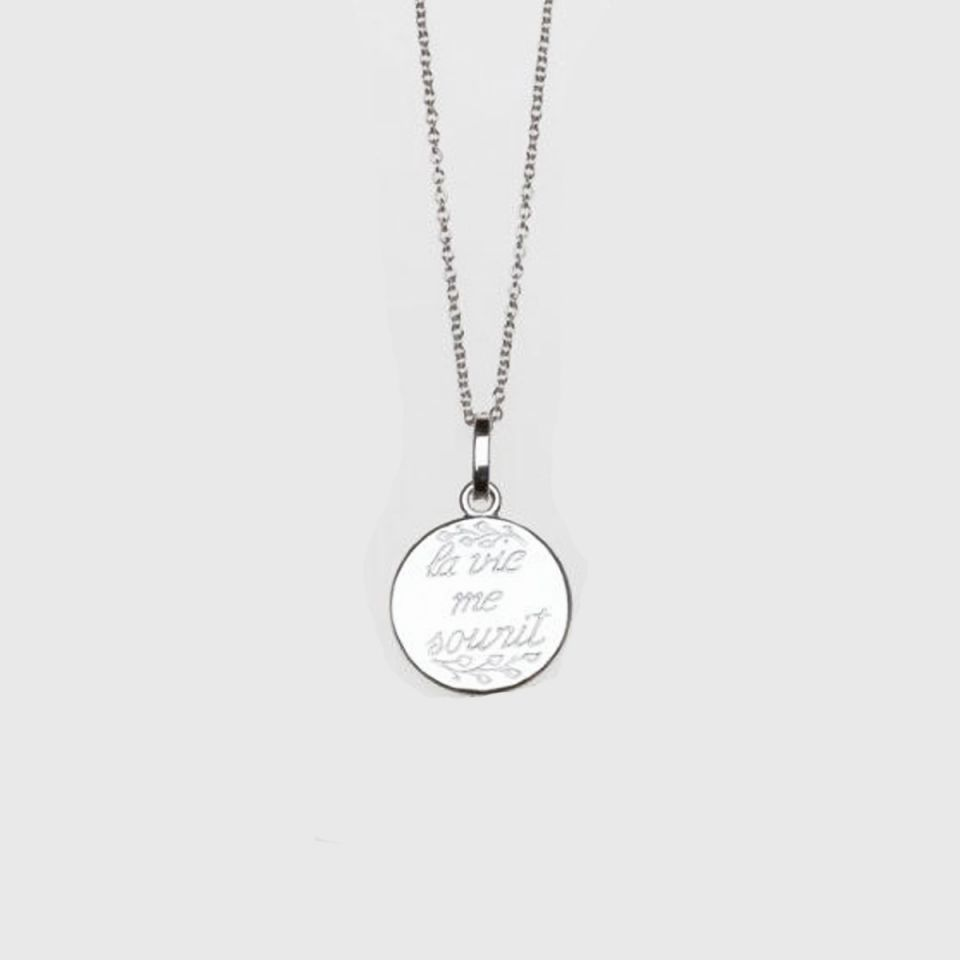 Necklace ' la vie me sourit'