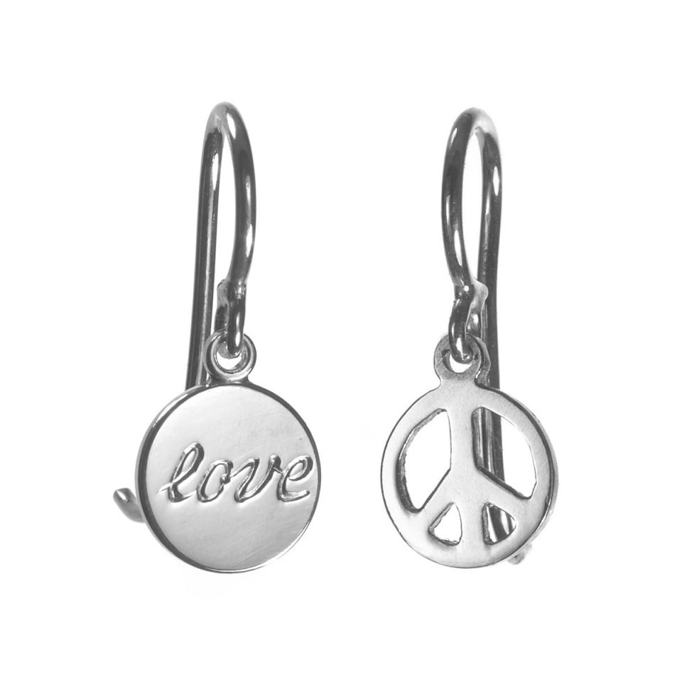 """Love & Peace"" Earrings"