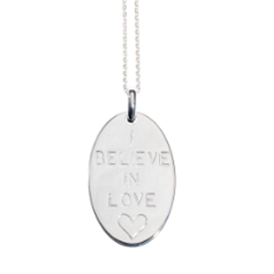 Necklace ' I believe in Love'