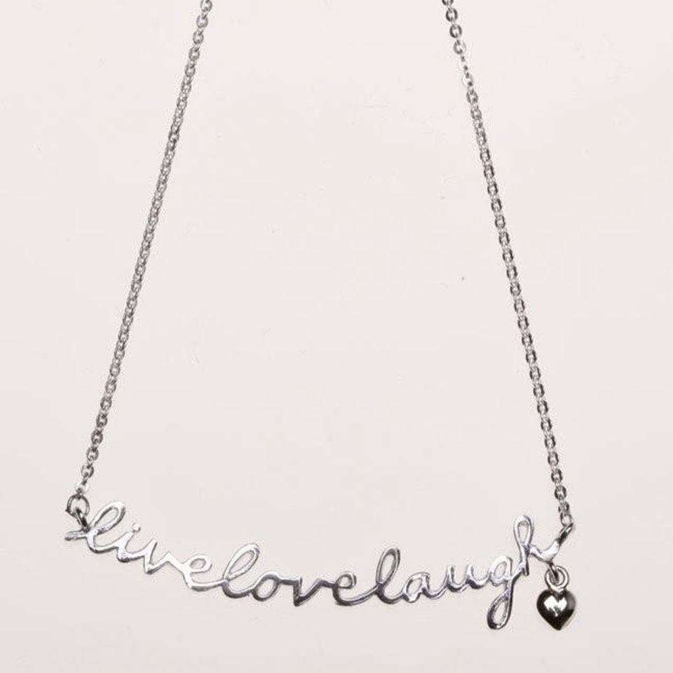 Necklace 'live, love, laugh'